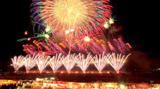 2014年8月8日 @静岡 按針祭 灯籠の流れ 打上花火