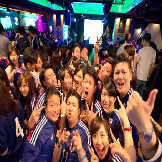 渋谷2戦目ブラジルW杯日本応援! : 写真